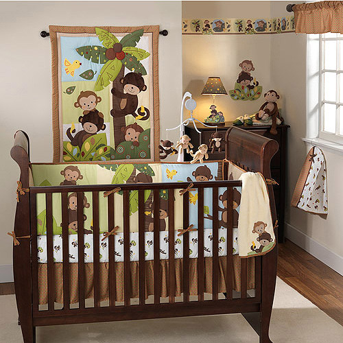 Bedtime Originals by Lambs & Ivy - Curly Tails 4pc Crib Bedding Set