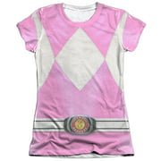 Mighty Morphin Power Rangers Pink Ranger Juniors Sublimation Shirt