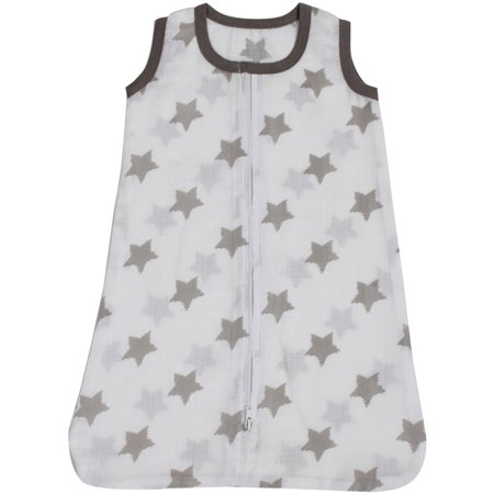 Bacati - Stars Ikat 100% Cotton breathable Muslin Wearable Blanket (Choose Your Size)