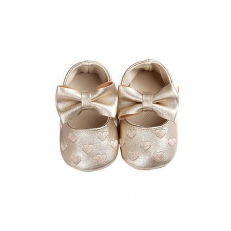 Lavaport Newborn Baby Girl Soft Crib Shoes Infants Anti-slip Sneaker (Shoes To Wear With Emerald Green Dress)