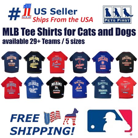 Pets First MLB Chicago Cubs Tee Shirt for Dogs & Cats. Officially Licensed - Large
