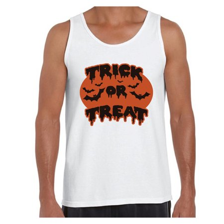 Awkward Styles Men's Halloween Graphic Tank Tops Trick or Treat Scary Bats - Halloween Bat Treats