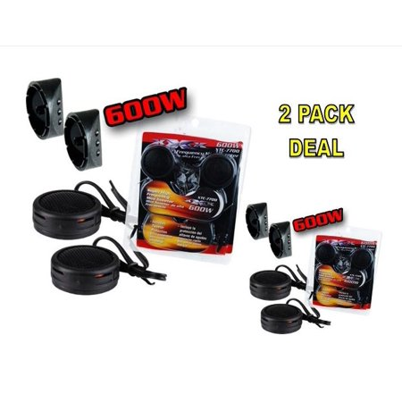 2 PACK 600w High Frequency Car Truck Boat Stereo Tweeters Built-in Crossover