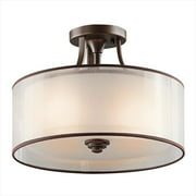 Kichler 42386MIZ Lacey 3 Light Semi Flush in Mission Bronze