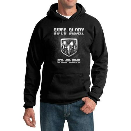 Doggie Sweatshirt - Men's Dodge RAM Hoodie - Guts and Glory - Black
