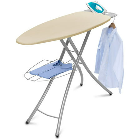 Homz Professional Wide-Top Ironing Board, Cream