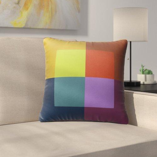 Latitude Run Balog Square Indoor/Outdoor Throw Pillow
