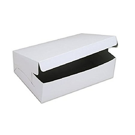 Wholesale Cake Boxes (SafePro 14104C, 14x10x4-Inch Cardboard Cake Boxes, Take Out Disposable Paper Cake Pie Containers, Wholesale White Bakery Box)