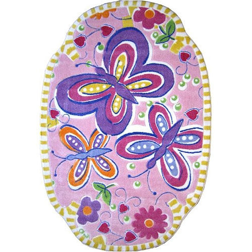 Fun Rugs Supreme Glitterfly Purple Area Rug