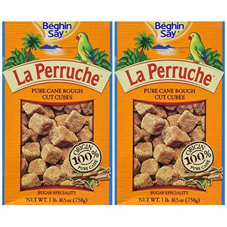 (2 Pack) La Perruche Rough Cut Brown Sugar Cubes, 26.5 oz