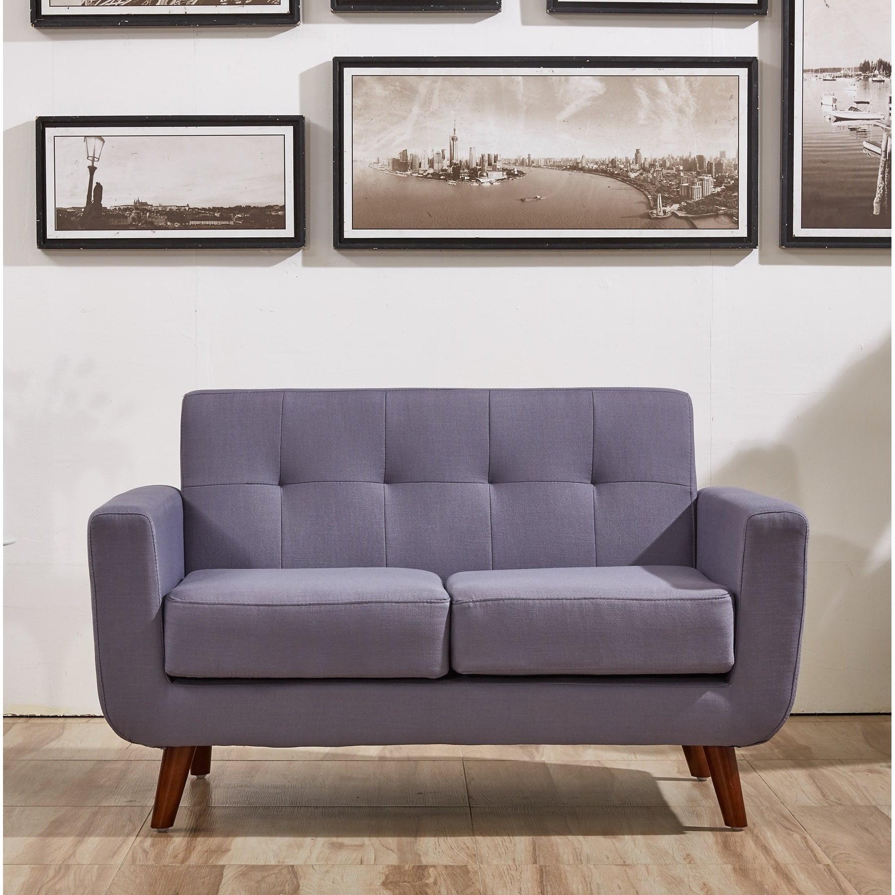 US Pride Furniture Zen Tufted Back Loveseat