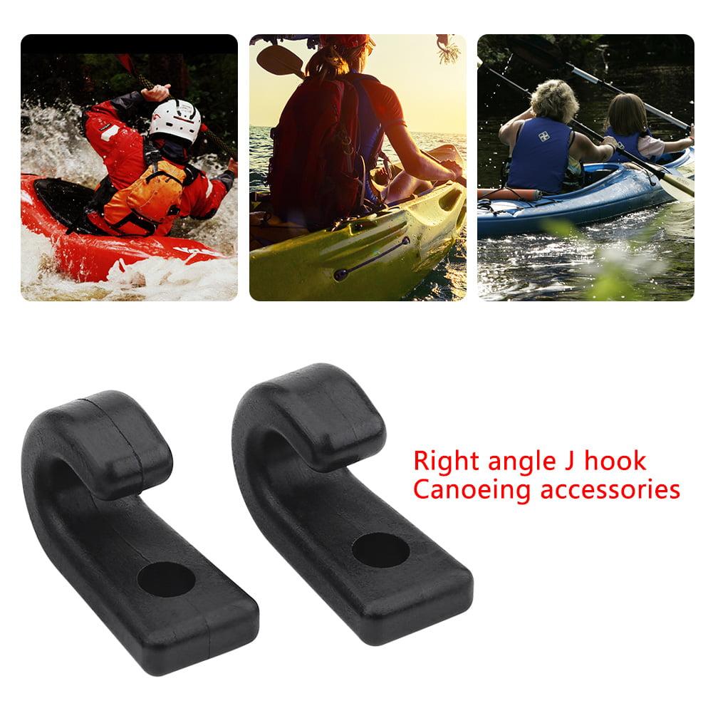 Kayak J Hooks Bungee Hook for Kayak Canoes Boat 24pcs Nylon Lashing Hook
