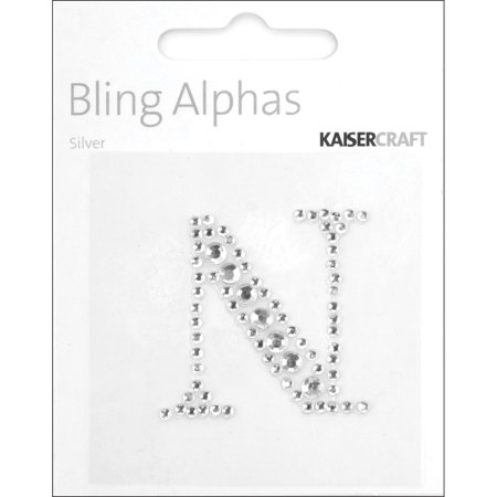 Bling Letters (Kaiser Craft Bling Alphas Collection Self Adhesive Monogram Letter N )