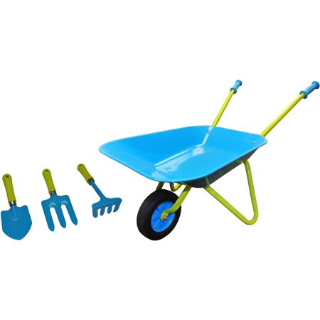G & F 10041 JustForKids Kids Wheel Barrel and Garden Tool - Child Accessories