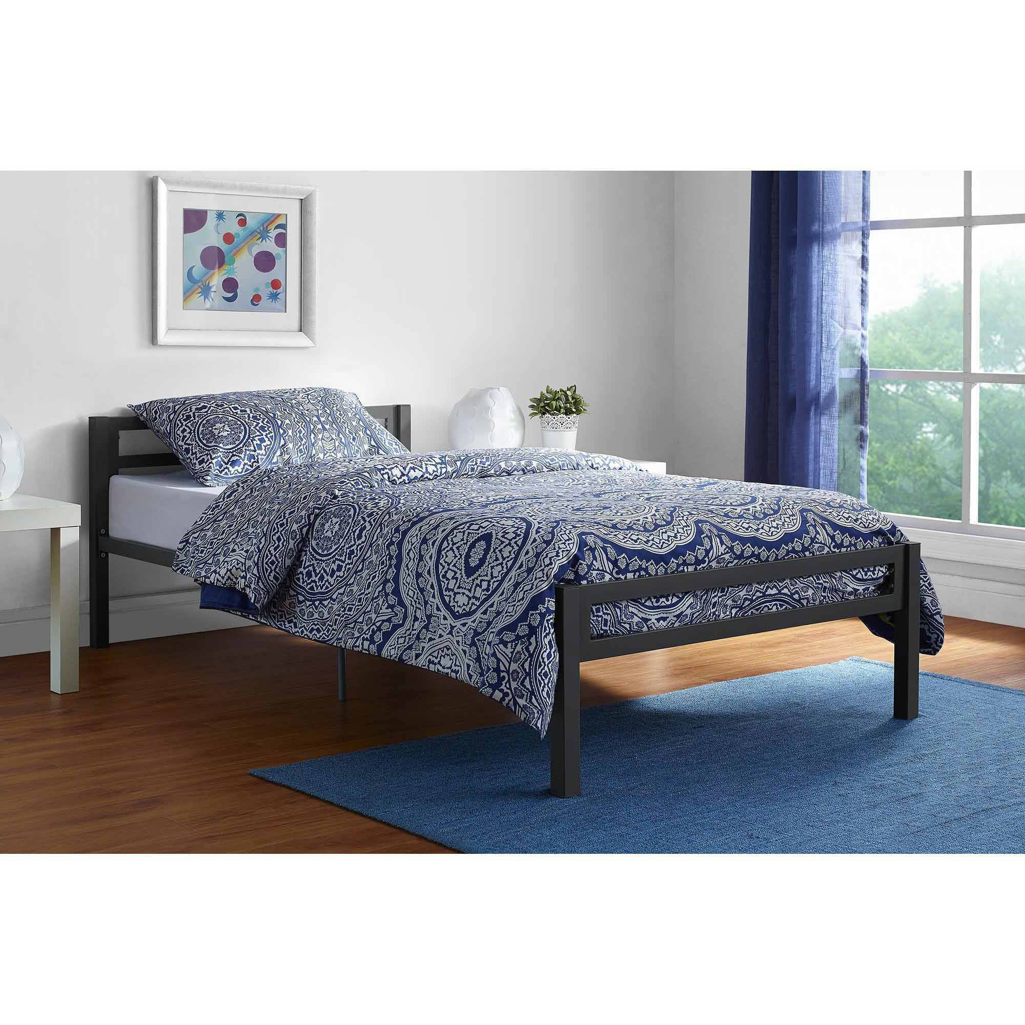 mainstays premium metal twin bed multiple colors walmartcom