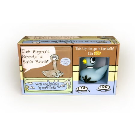 The Pigeon Needs a Bath Book with Pigeon Bath Toy! (Pigeon Brush)