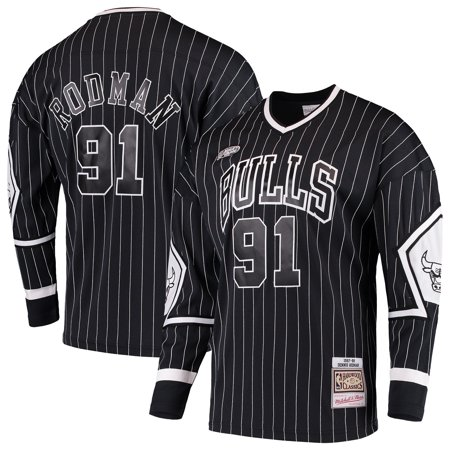Dennis Rodman Chicago Bulls Mitchell & Ness Hardwood Classics Hockey Jersey - (Penguins Hockey Jerseys)