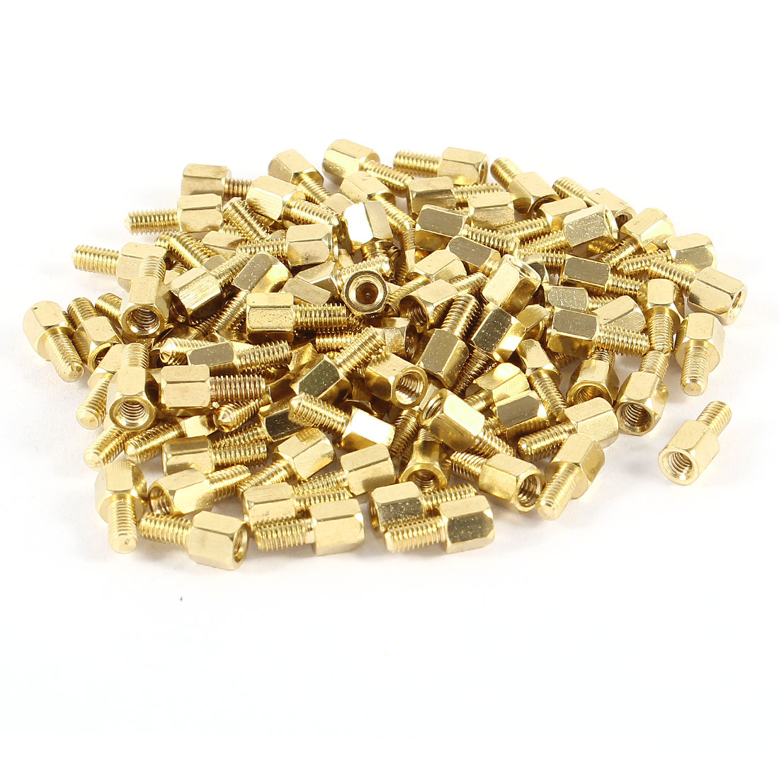 100pcs Brass Hex Standoff Spacer M3 x 5+6mm Female to Male