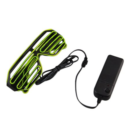 Glow Glasses Led Light Up Neon Shutter Party Glasses Flashing LED Glasses Light Up Glow Eyewear Shades Flashing Rave for Nightclub Party (Green)