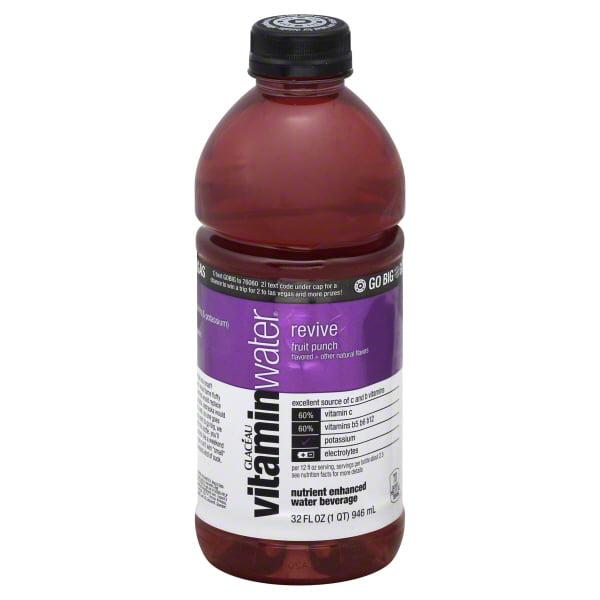 Coca Cola Vitaminwater  Water Beverage, 32 oz