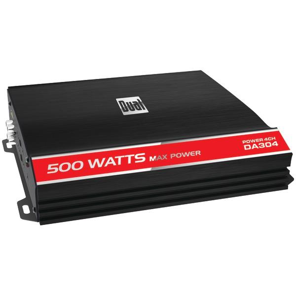 DUAL DA304 Performance Series Class AB Bridgeable Amp (4 Channels 500 Watts)