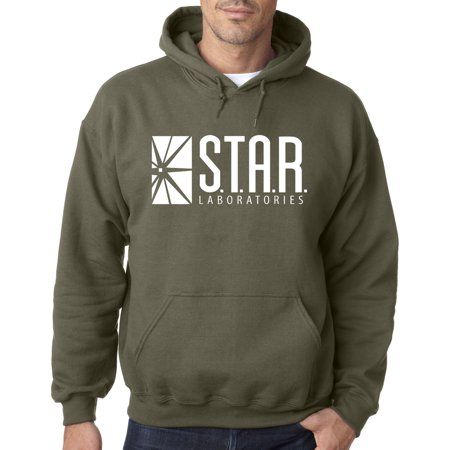 Trendy USA 859 - Adult Hoodie Star Laboratories Labs Comic Hero Sweatshirt 2XL Military Green - Lamb Hoodie
