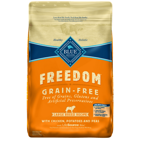 Blue Buffalo Freedom Grain Free Natural Adult Large Breed Dry Dog Food, Chicken, 24-lb