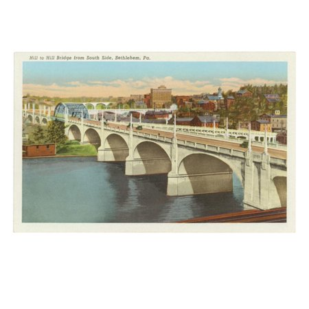 Bridge, Bethlehem, Pennsylvania Print Wall Art ()