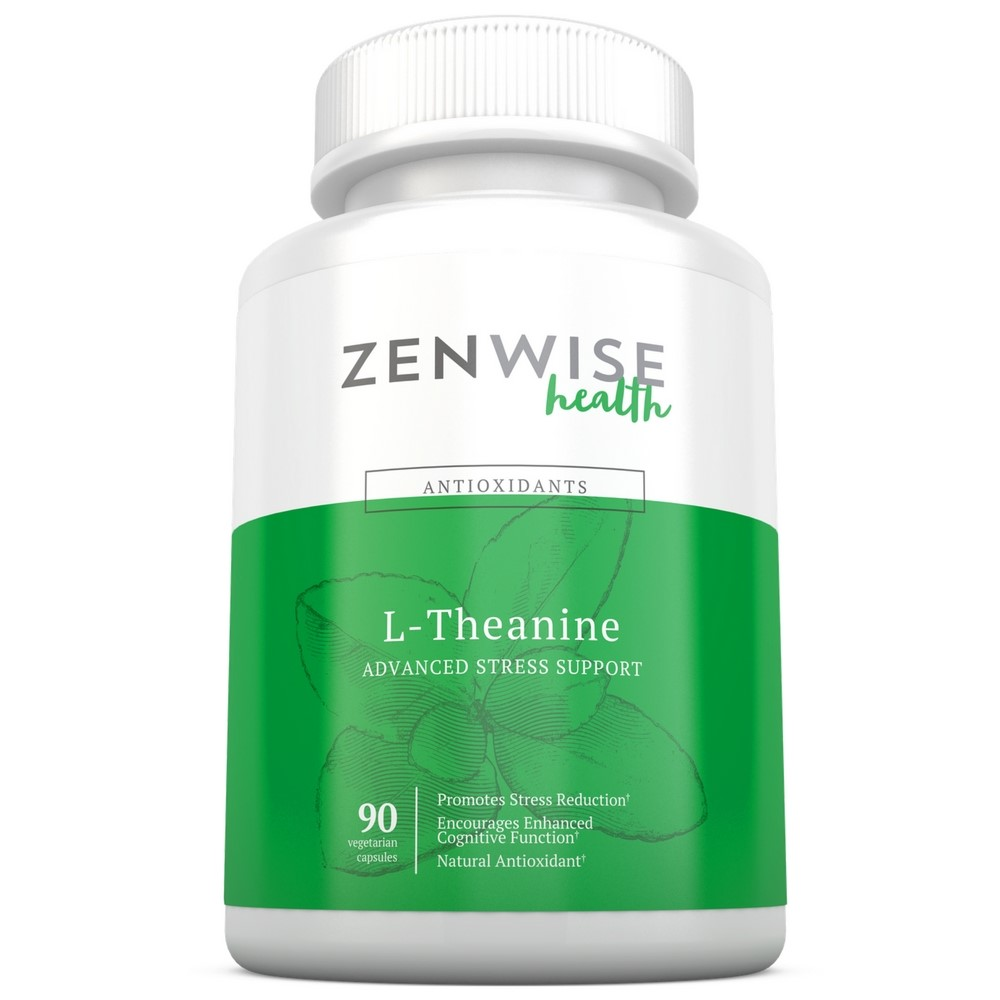 Zenwise Health L-Theanine Advanced Stress Support Vegetarian Capsules, 90 Ct