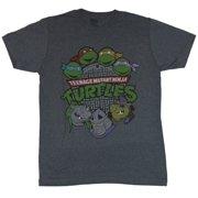 Teenage Mutant Ninja Turtles Mens T-Shirt - Boys Above Logo Baddies Below