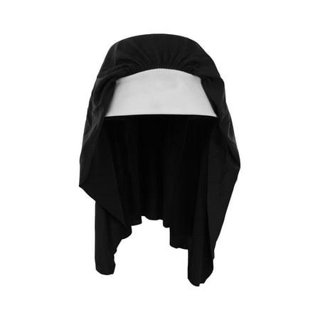 Nicky Bigs Novelties Nun Habit Headpiece Costume Hat, Standard Size
