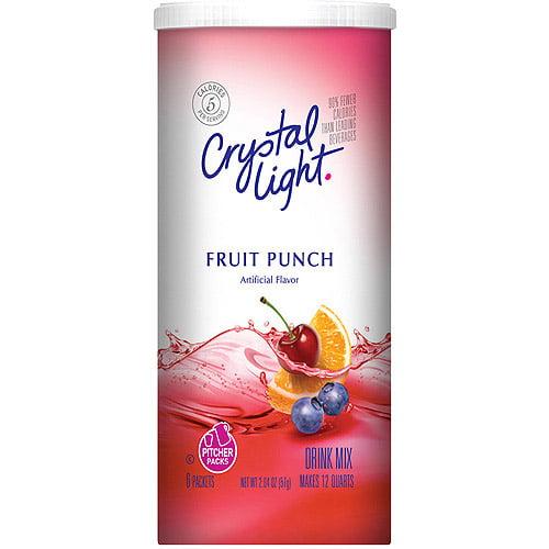 Crystal Light Sugar Free Fruit Punch Drink Mix, 2.04 Oz