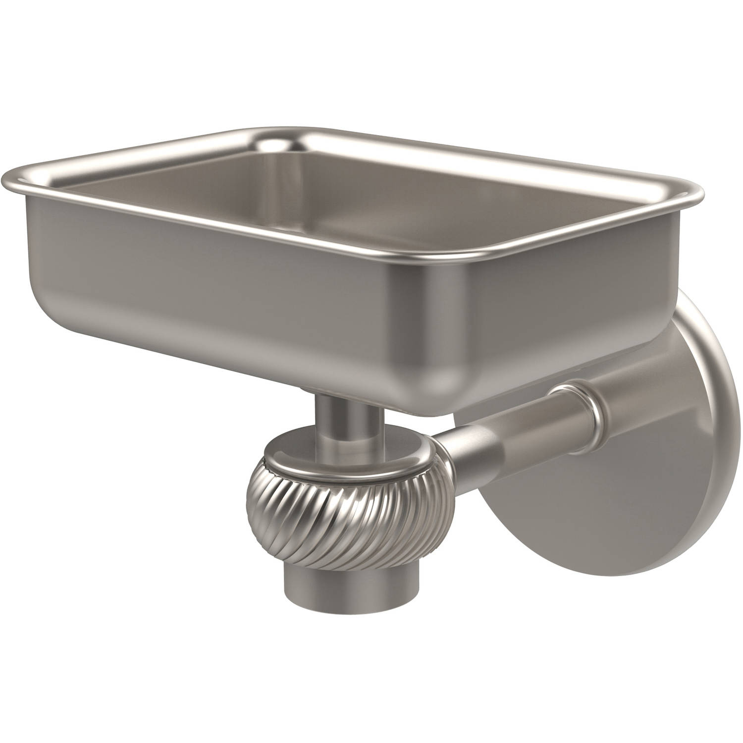 Satellite Orbit One Wall-Mounted Soap Dish with Twisted Accents (Build to Order)
