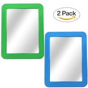 """Magnetic Mirror - Locker Mirror PHD - 5 x 7"""" - for Workshop Toolbox or Office Cabinet"""