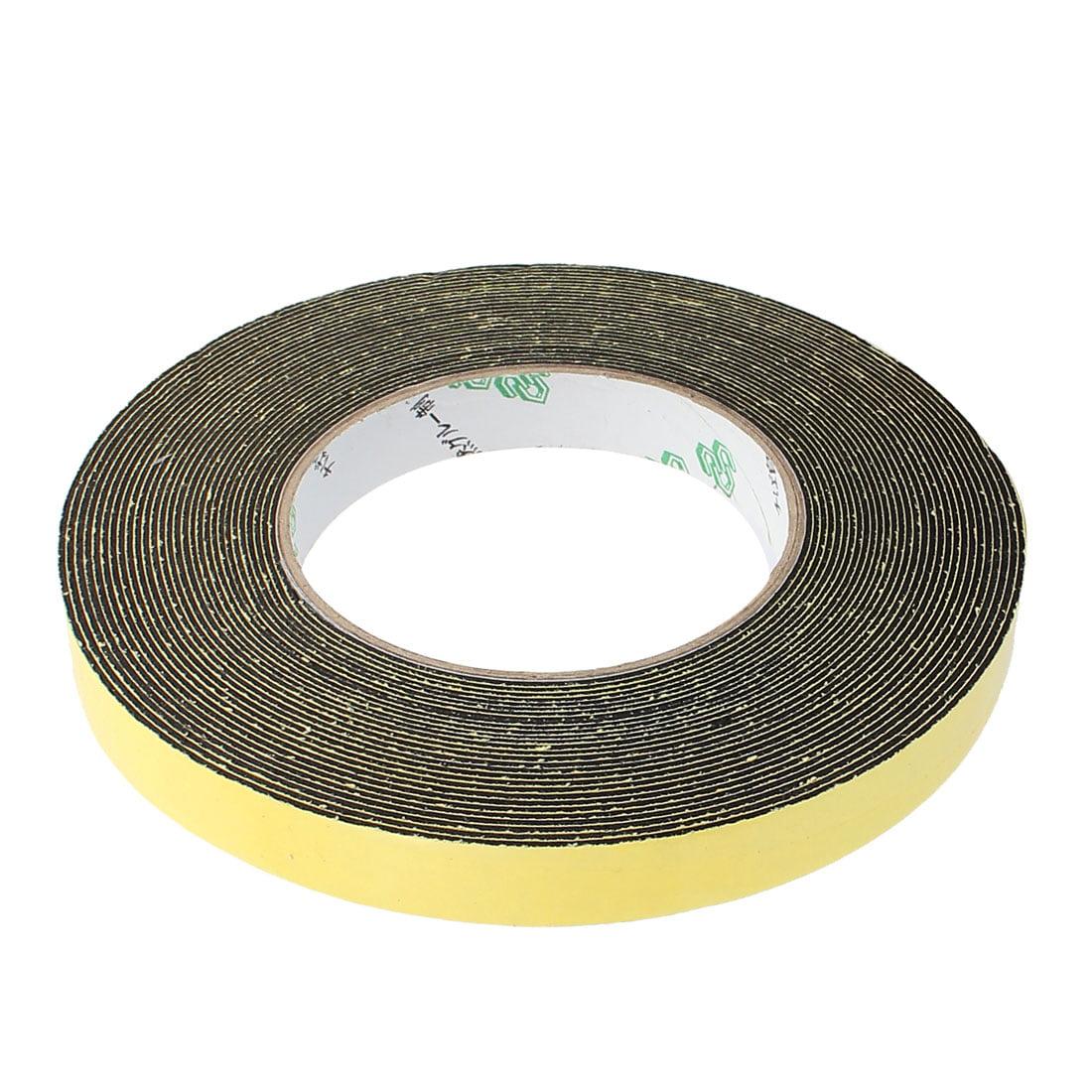 2Pcs 15mm Width 1mm Thickness Single Side Sponge Foam Tape Black 10 Meter Length - image 3 of 4