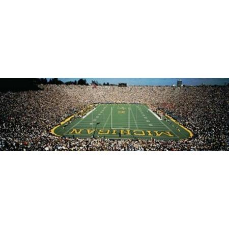 University Of Michigan Stadium Ann Arbor Michigan USA Poster - Halloween Usa Ann Arbor