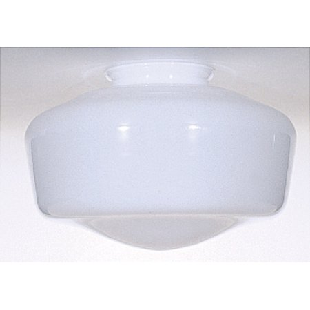 Satco 10in Blown Opal Glass Shade SchoolhoUse Glass White Fitter 4in