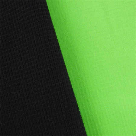 Green/Black Waterproof Stretch Soft Shell Grid Fleece, Fabric By the Yard