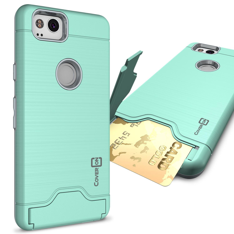 CoverON Google Pixel 2 Case, Shadow Armor Series Hybrid Kickstand Phone Cover