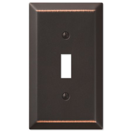 Oil Rubbed Bronze - Traditional Design Single Toggle Switch Wall (Screwless Toggle Switch Wall Plate)