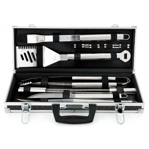 Mr. Bar-B-Q Platinum Prestige Stainless-Steel 18-Piece Tool Set