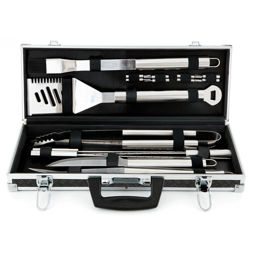 Mr. Bar-B-Q Platinum Prestige Stainless-Steel 18-Piece Tool Set