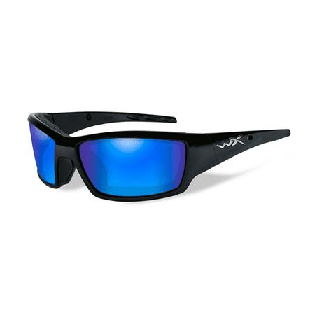 ca984d9fa4 Wiley X Tide Lens  Polarized Blue Mirror Gloss Black Cctid09 - Walmart.com