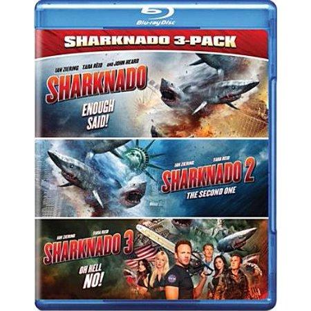 Sharknado Triple Feature - Halloween Triple Feature Blu Ray