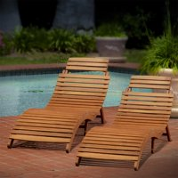 Omniscient Wood Outdoor Chaise Lounge