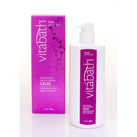 Vitabath plus for dry skin moisturizing bath & shower gele, 21 oz (Dry Bath)
