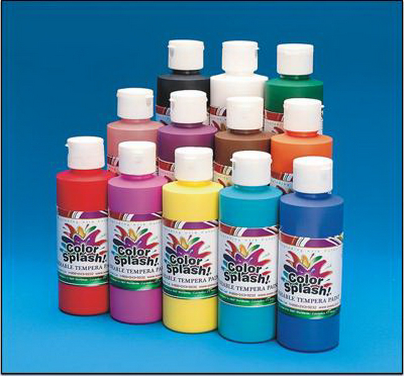 (Price/per pack)8-oz. Color Splash! Washable Tempera Paint