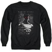 Man Of Steel Red Eyes Mens Crewneck Sweatshirt