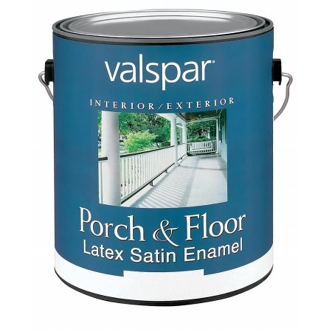 Valspar Brand 1 Gallon Dark Green Porch & Floor Latex Satin Enamel 27-1521 GL - Pack of 2