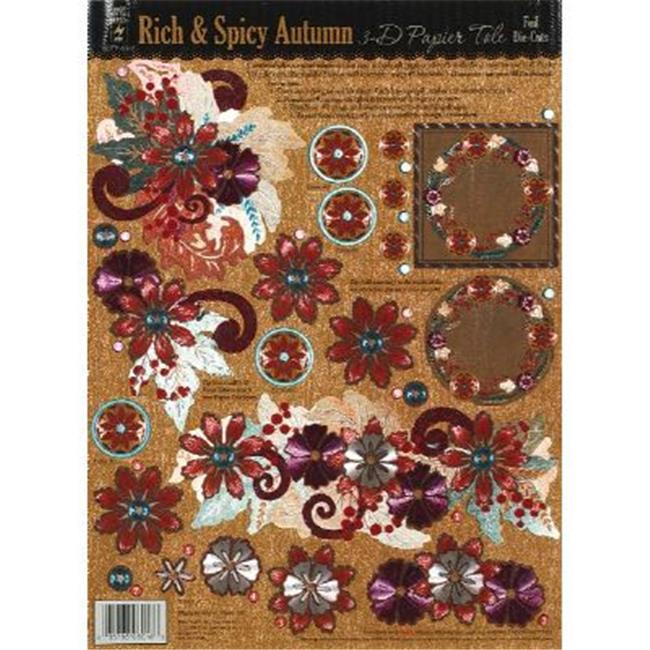 Hot Off The Press HOTP8016 3-D Papier Tole Die Cuts Rich and Spicy Autumn